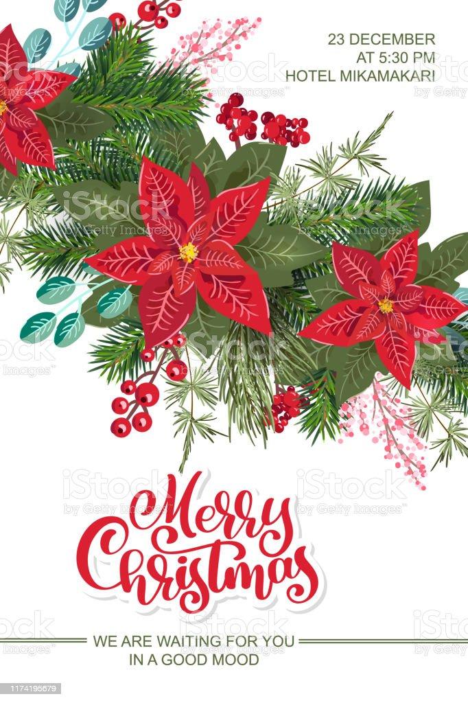 Invitation De Fête De Joyeux Noel Et Bonne Carte Dinvitation De