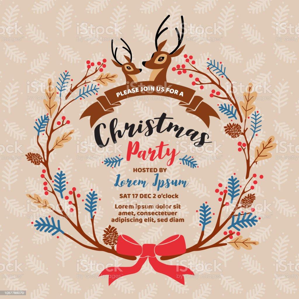 Ilustración De Diseño De Tarjeta De Invitación Fiesta De