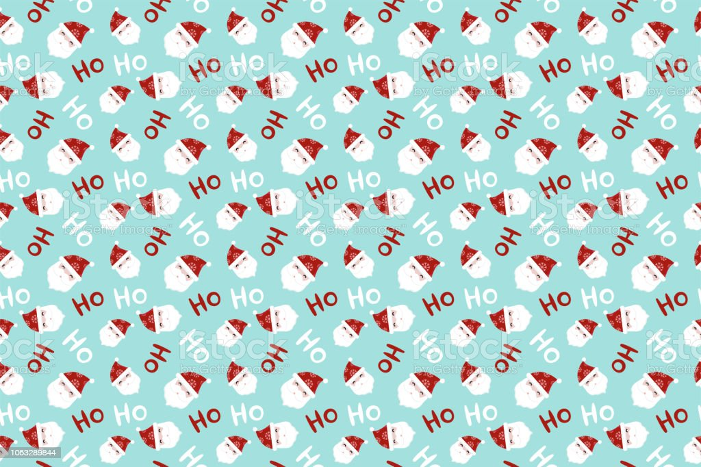Christmas Pattern.Merry Christmas Pattern Seamless Collection Santa Claus Background Endless Texture For Gift Wrap Wallpaper Web Banner Background Wrapping Paper And