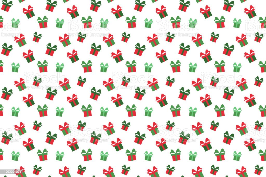 Merry Christmas pattern seamless. Gift background. Endless texture...