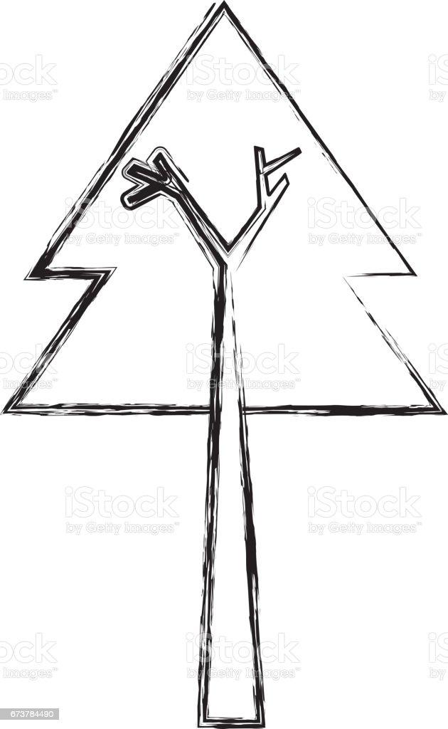 arbre de pin joyeux Noël arbre de pin joyeux noël – cliparts vectoriels et plus d'images de a la mode libre de droits