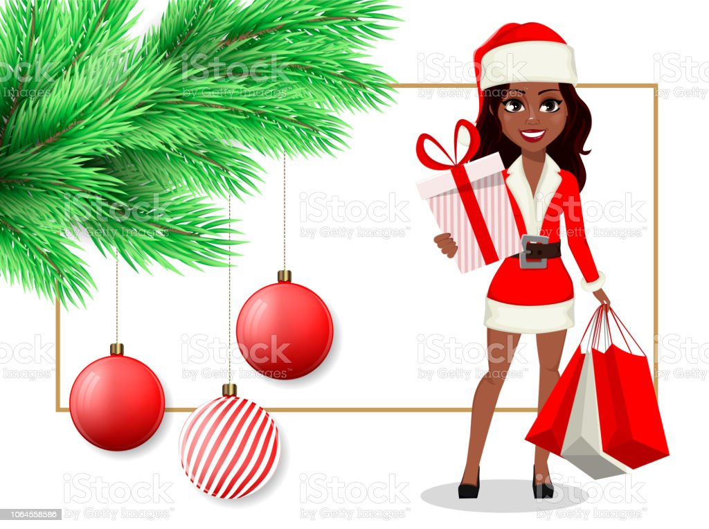 Merry Christmas Postcard Stock Vector Art More Images Of Adult