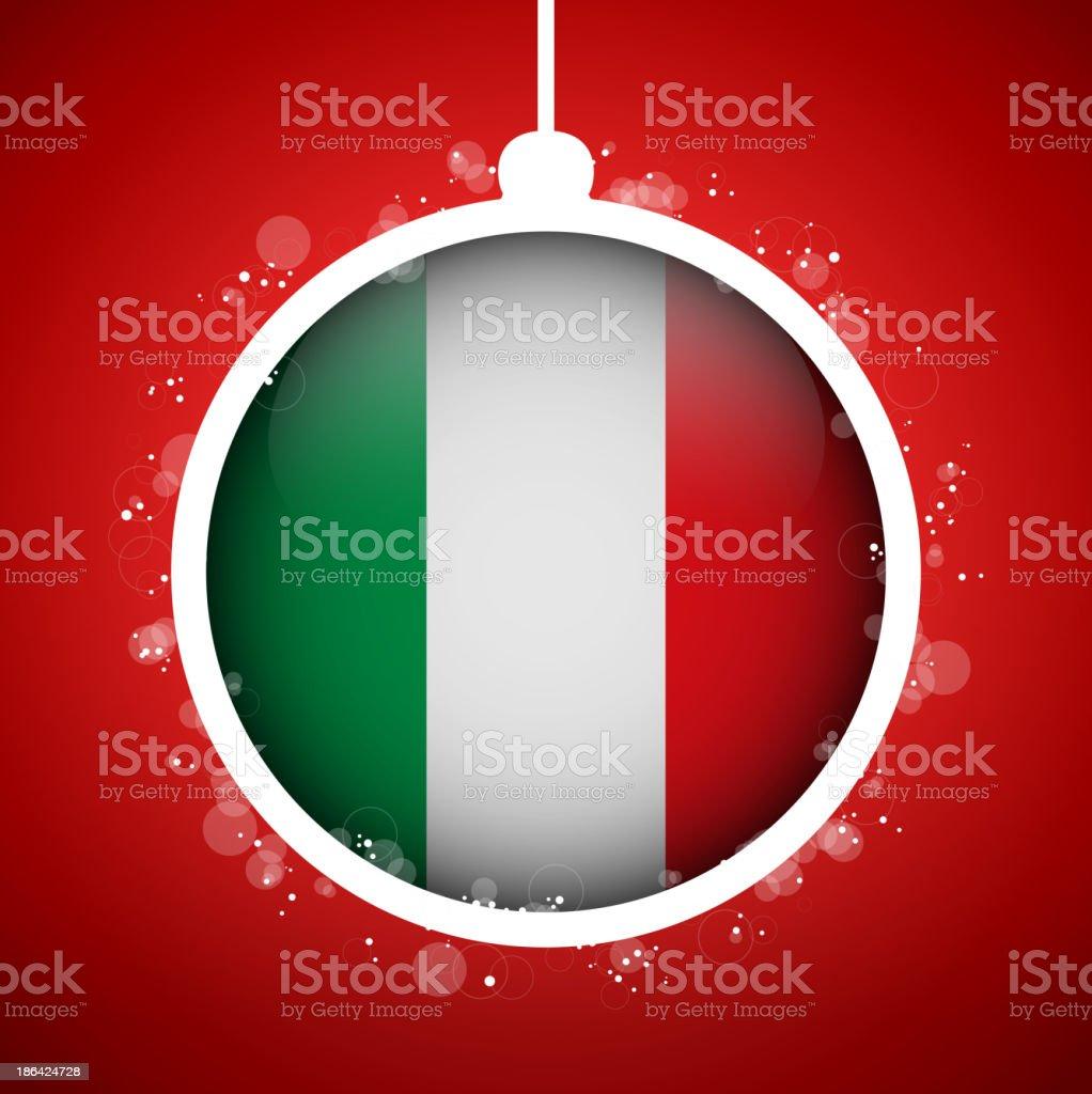 Flag of Italy Glass Ball Christmas Ornament