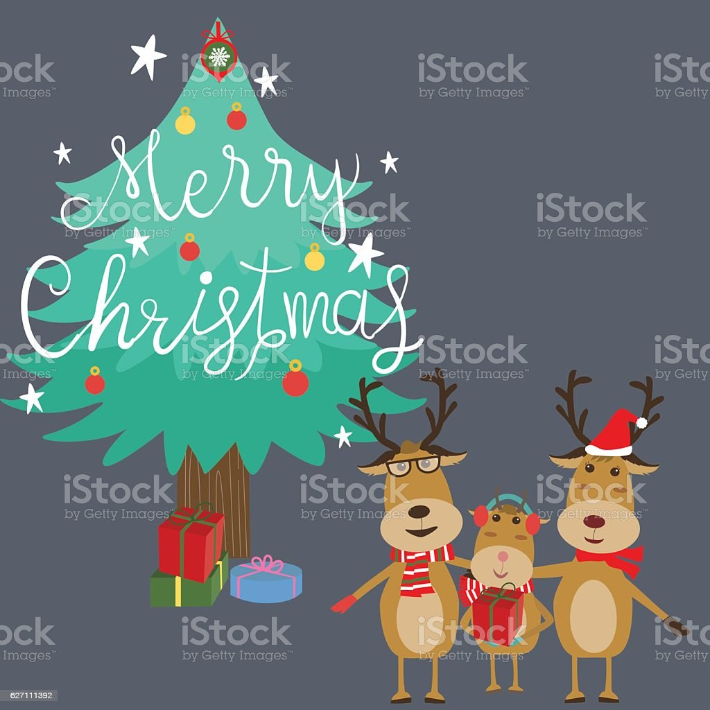 merry christmas reindeers family father daughter mother royalty free merry christmas reindeers family father daughter - Merry Christmas Daughter