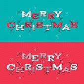 Merry Christmas retro messages.