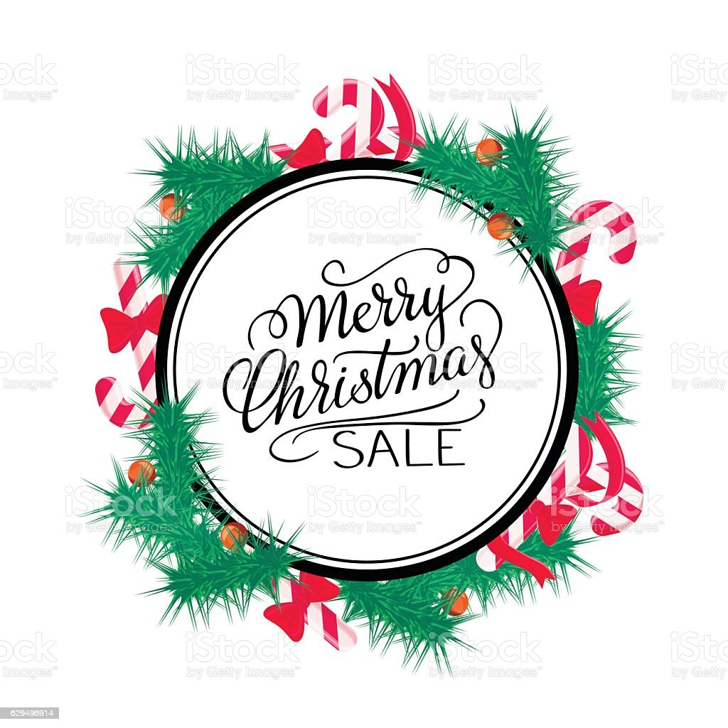Merry Christmas Sale Background Vector Art Stock Illustration - Download  Image Now - iStock