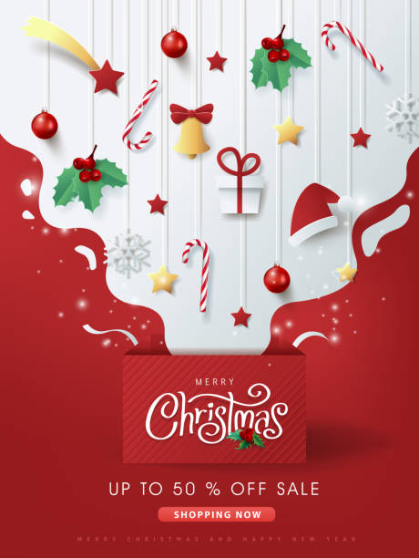 Merry christmas sale banner background.Merry Christmas text Calligraphic Lettering Vector illustration. Merry christmas sale banner background.Merry Christmas text Calligraphic Lettering Vector illustration. noel stock illustrations