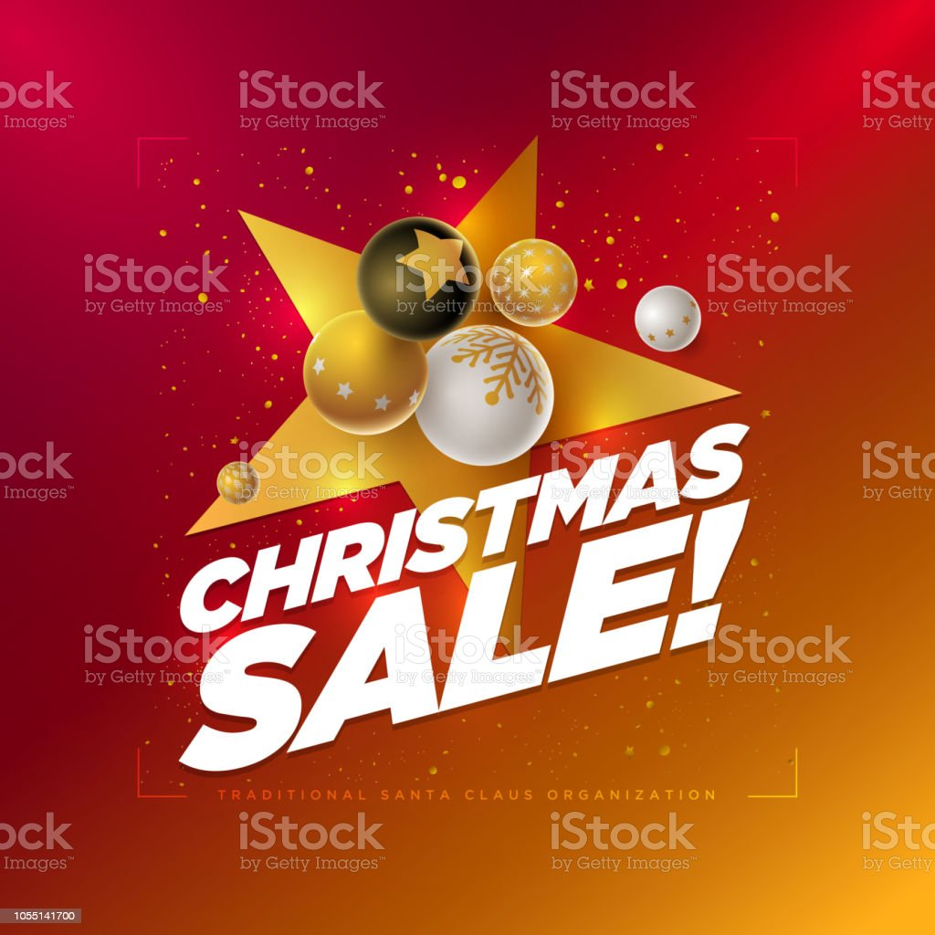 fb13c6f86251 Merry Christmas Sale Design Template Stock Vector Art   More Images ...