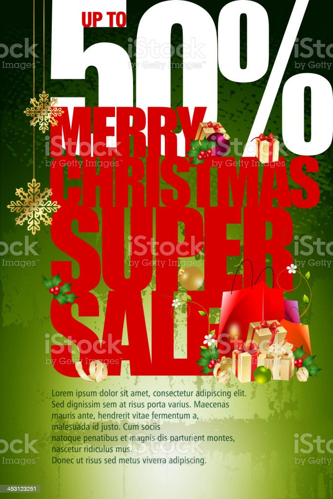 Merry Christmas Sale Promotions Background royalty-free stock vector art