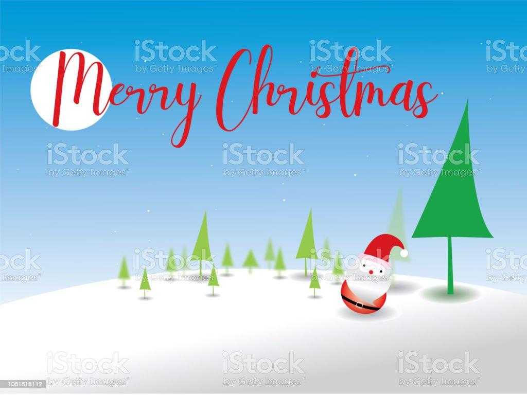 Frohe Weihnachten Weihnachtsmann Und Weihnachtsbaum Weihnachten ...