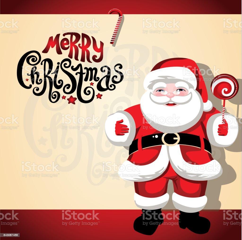 Frohe Weihnachten Santa Claus Weihnachten Hintergrund Mit ...