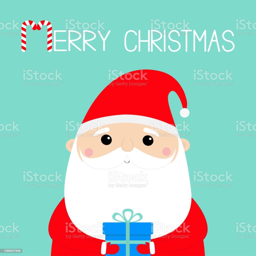 frohe weihnachten weihnachtsmann mit geschenkbox lustiges. Black Bedroom Furniture Sets. Home Design Ideas
