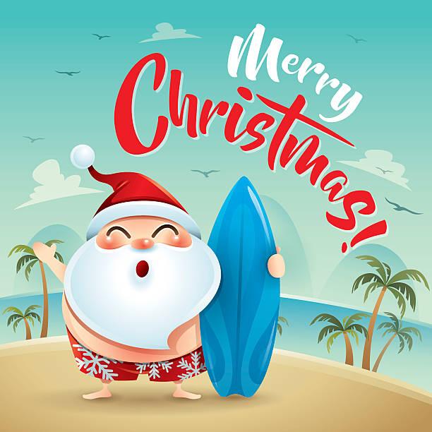royalty free santa surf clip art vector images
