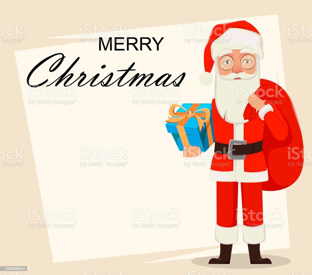Frohe Weihnachten Santa Claus Stock Vektor Art und mehr Bilder von ...