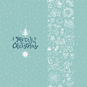 happy winter holidays poster merry christmas seamless pattern vertical border xmas greeting card template happy winter holidays poster