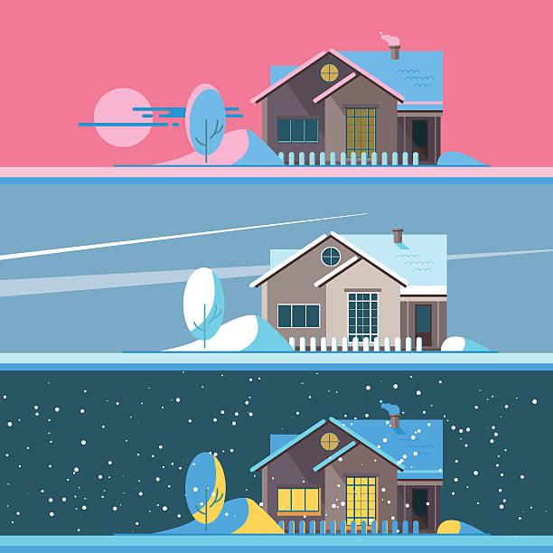 Merry Christmas set vector illustration – Vektorgrafik