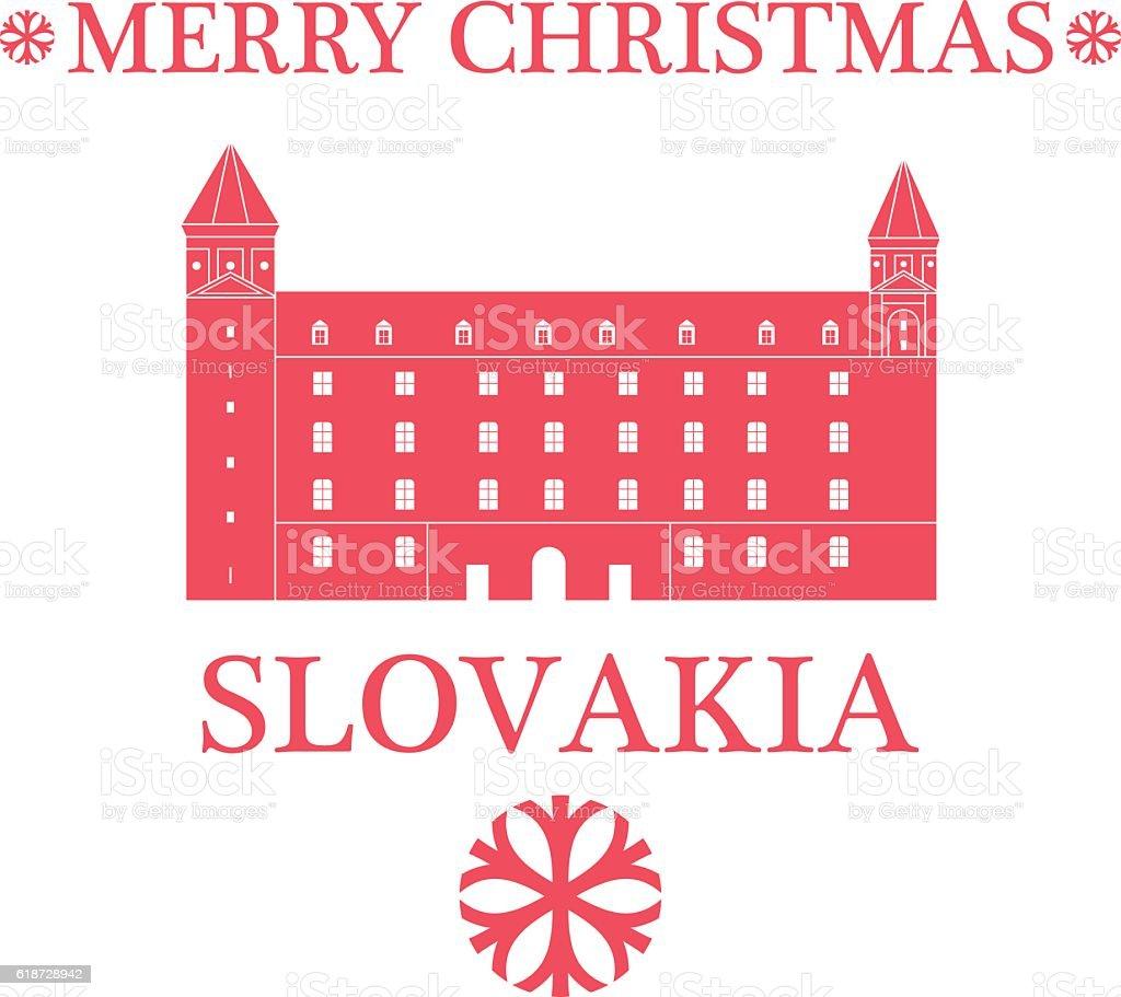 Merry Christmas  Slovakia. vector art illustration