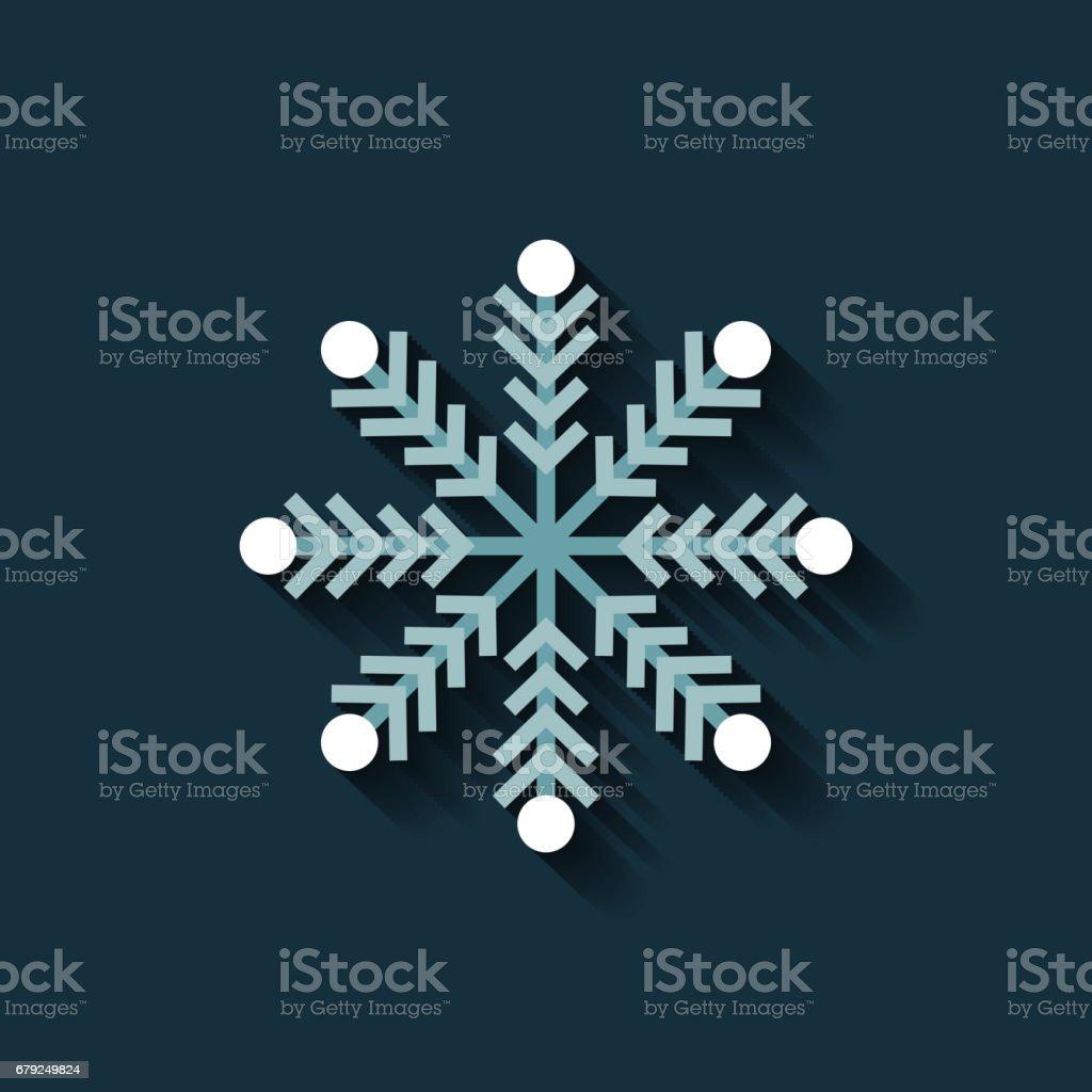 icône de flocon de neige joyeux Noël icône de flocon de neige joyeux noël – cliparts vectoriels et plus d'images de banderole libre de droits
