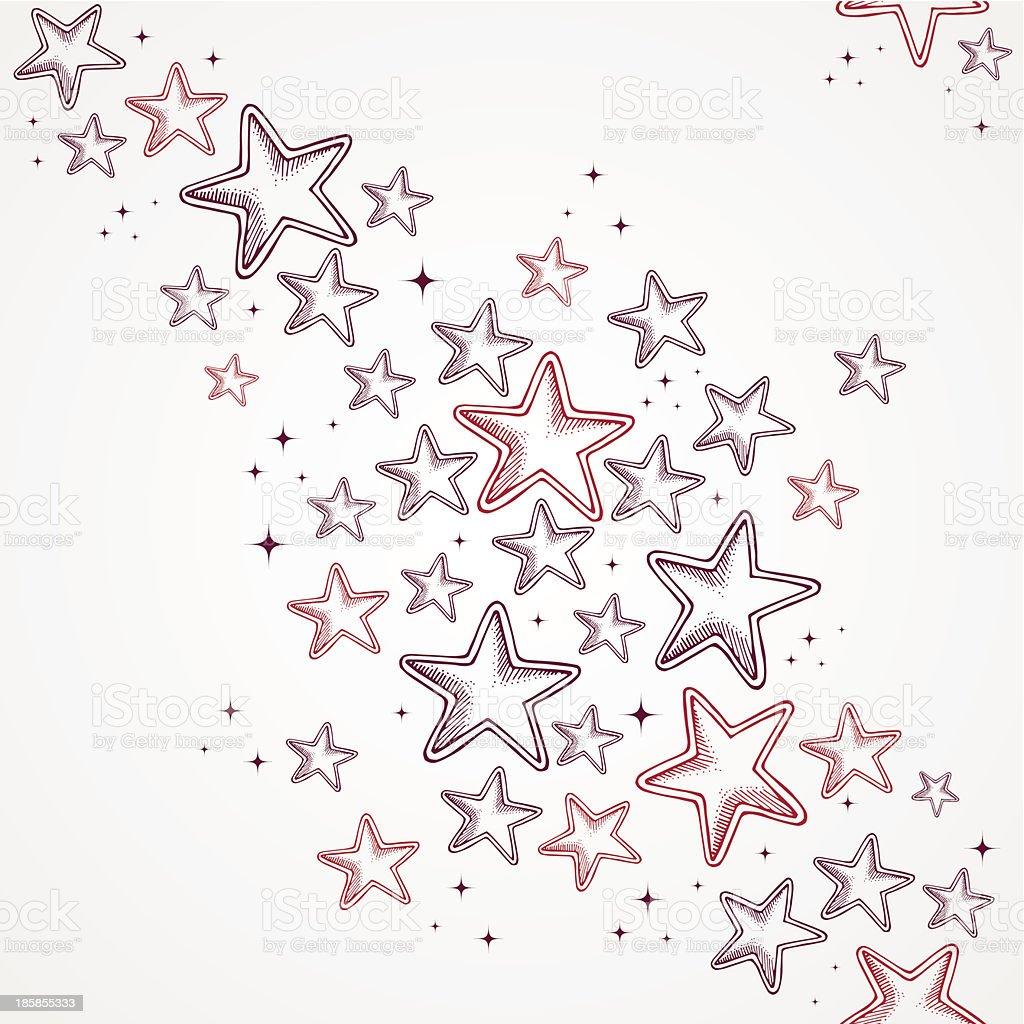 Merry Christmas star shapes seamless pattern background. EPS10 file. vector art illustration