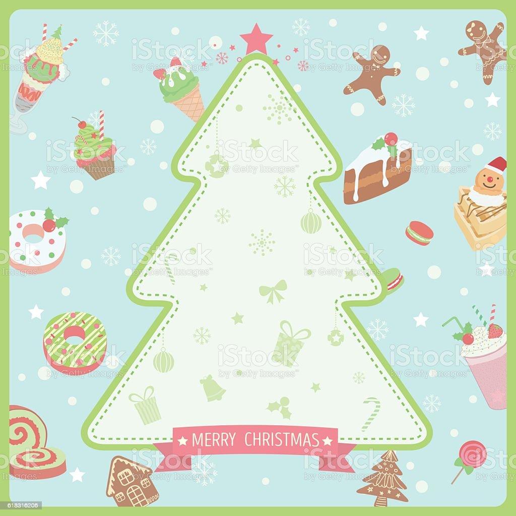 Ilustración de Merry Christmas Sweet Background y más banco de ...