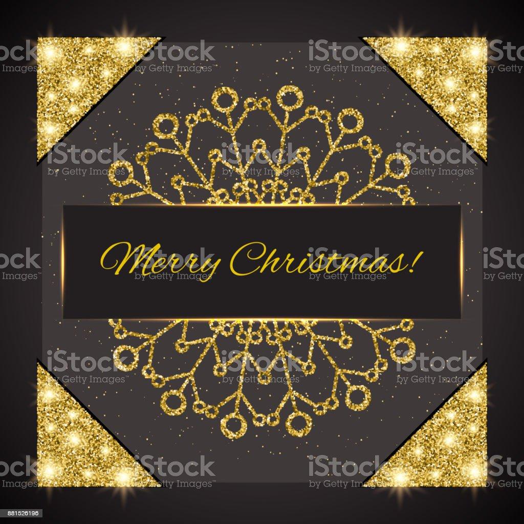 Ilustración de Feliz Navidad Plantilla De Tarjeta De Felicitación De ...