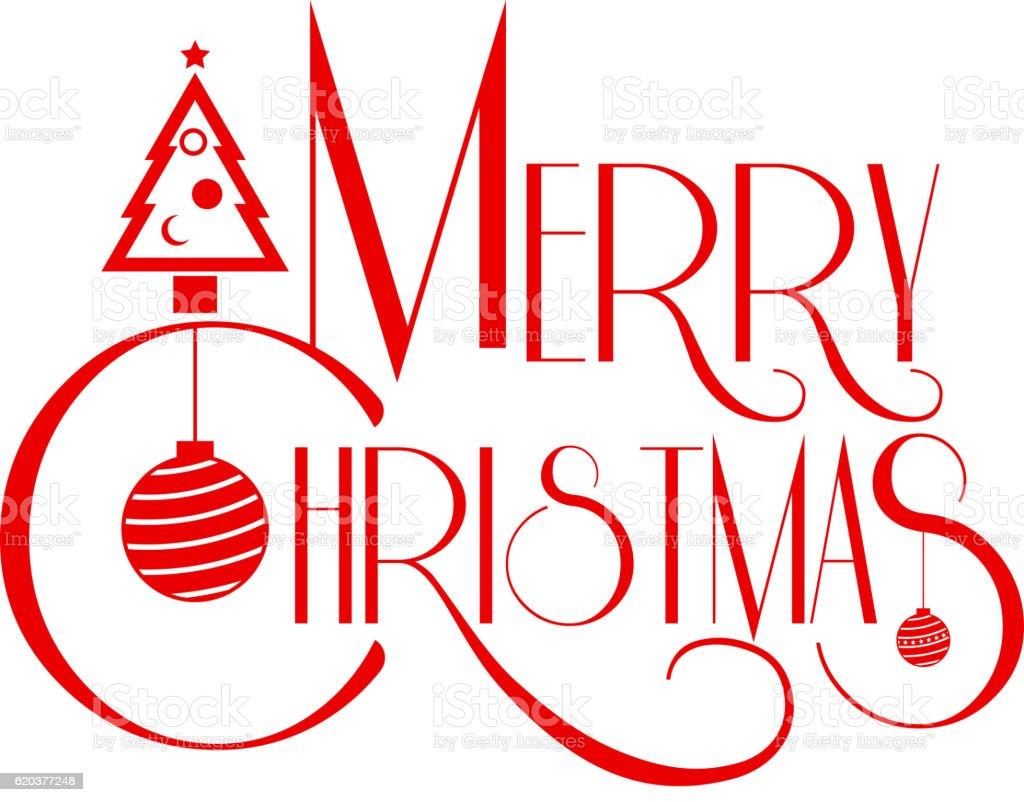 Merry Christmas text art red color vector illustration. merry christmas text art red color vector illustration - stockowe grafiki wektorowe i więcej obrazów boże narodzenie royalty-free