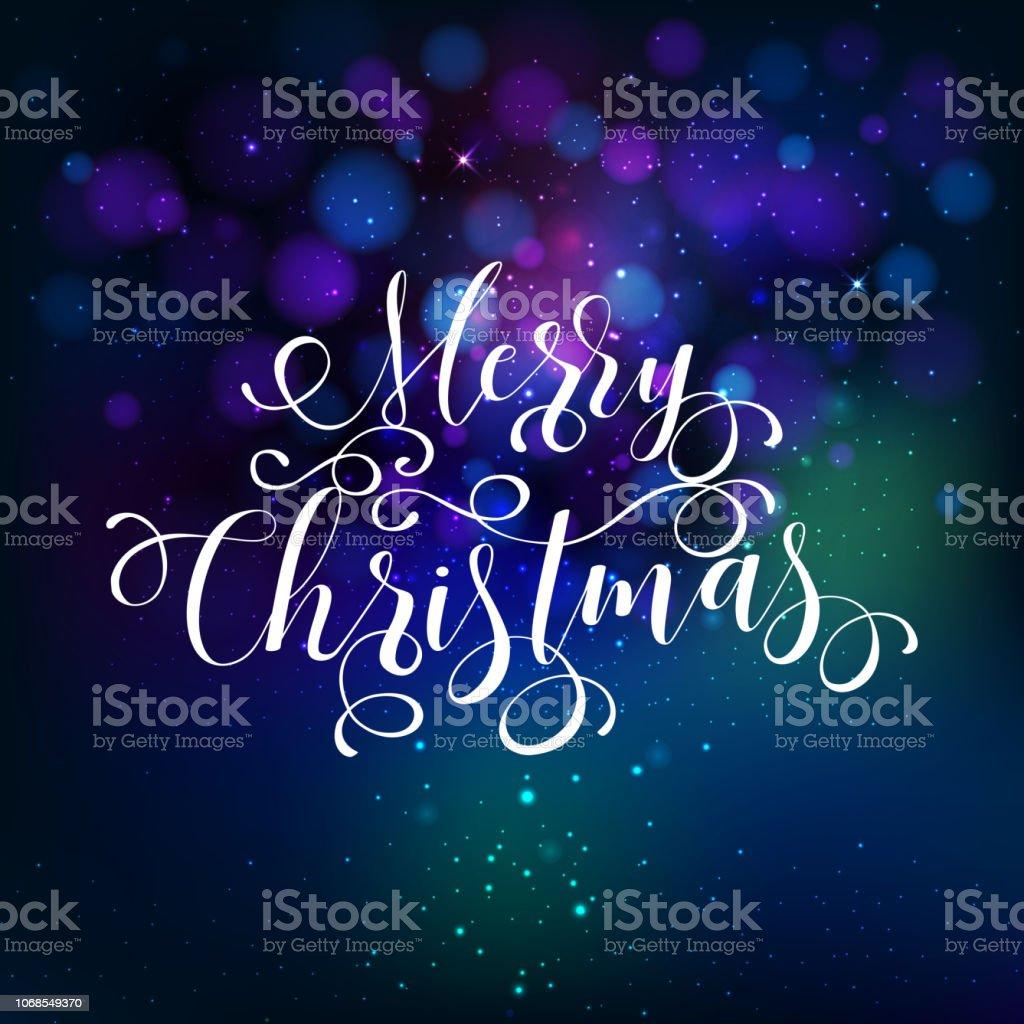 Frohe Weihnachten Text Karte.Frohe Weihnachten Text Kalligraphischen Schriftzug Karte