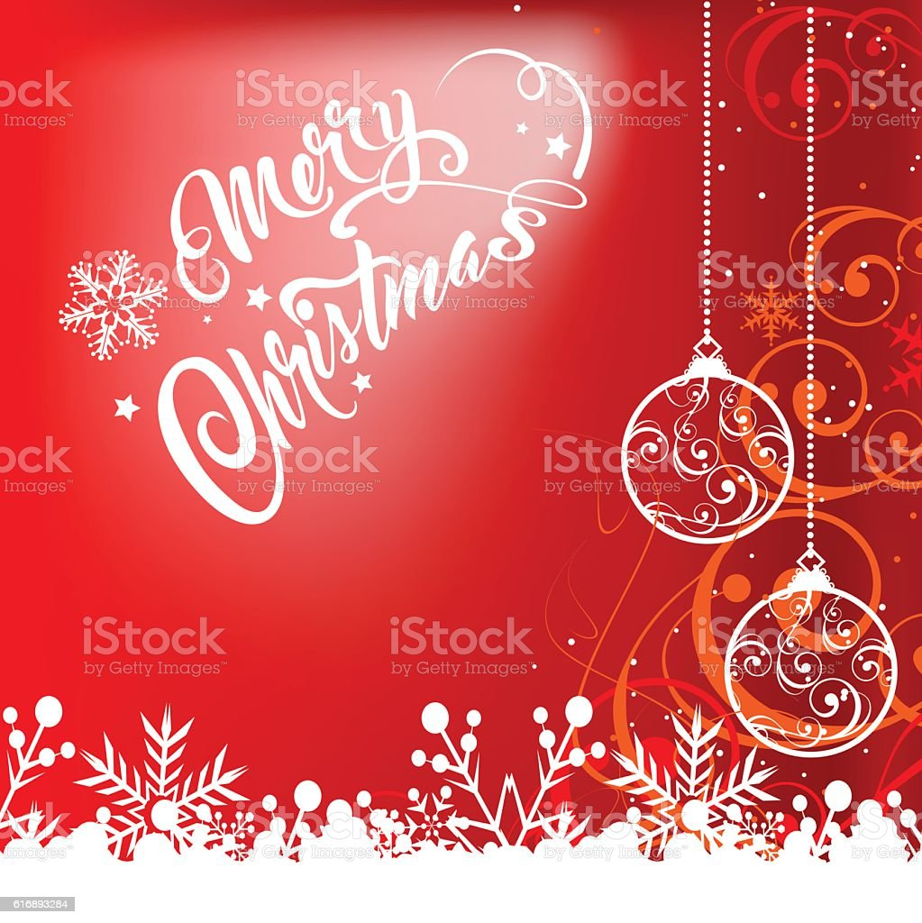 Merry Christmas Text Christmas Card 2 Stock Vector Art More Images