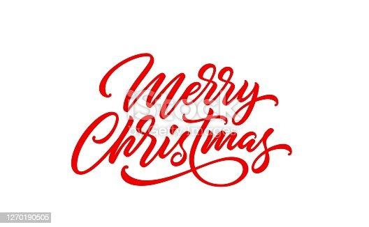 istock Merry Christmas text. 1270190505