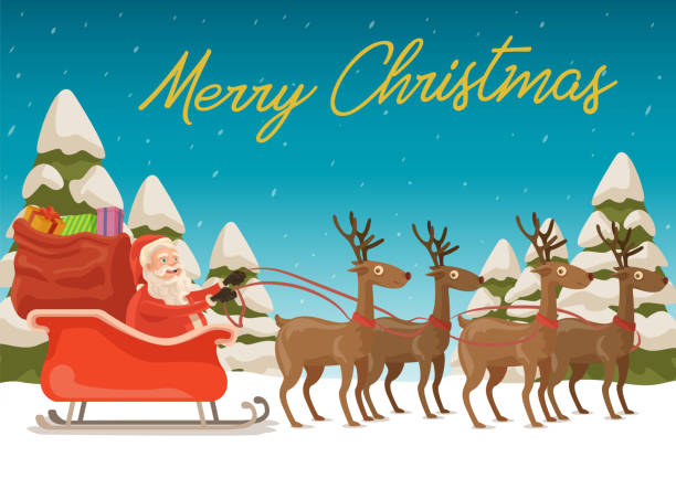 Merry Christmas to All! vector art illustration