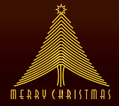 Merry Christmas Art Deco greeting design template