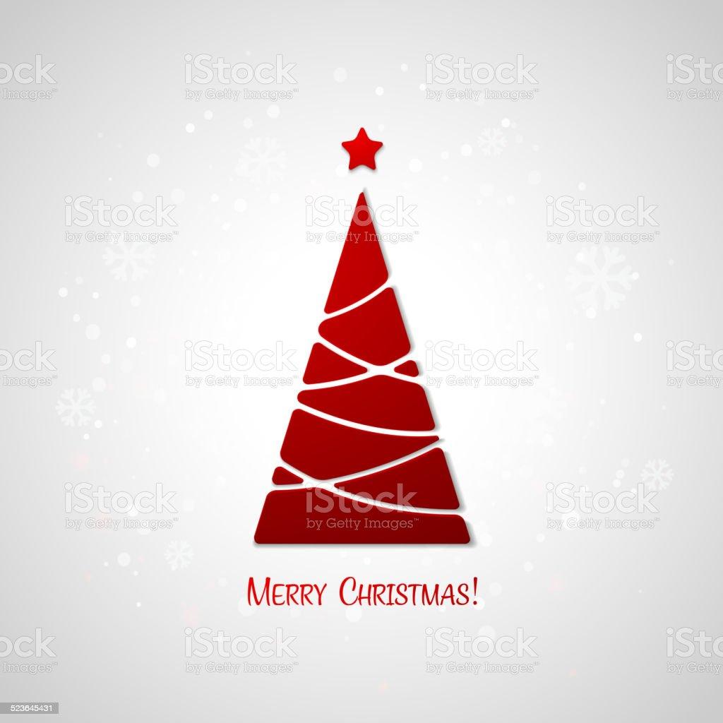 Ilustración de Merry Christmas Tree Tarjeta De Felicitación Diseño ...
