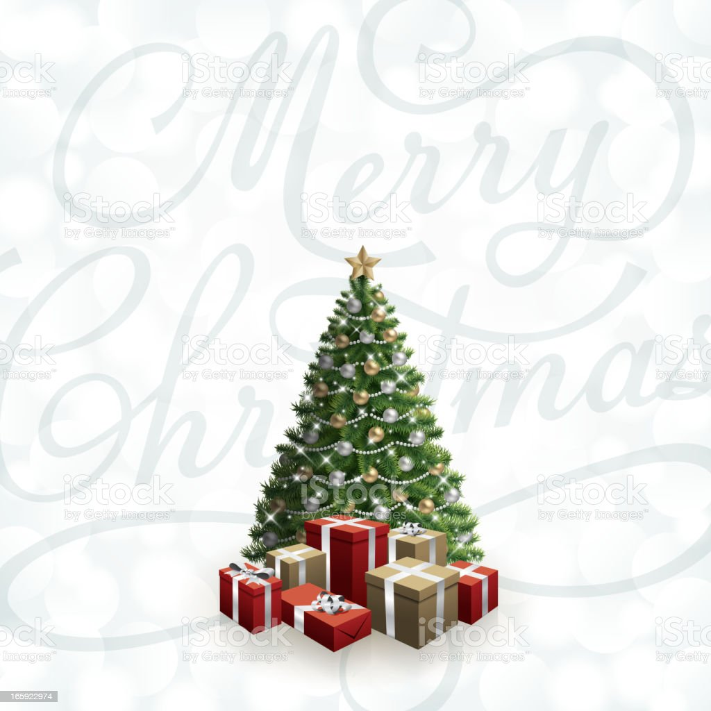 Merry Christmas Tree royalty-free merry christmas tree stock vector art & more images of backgrounds