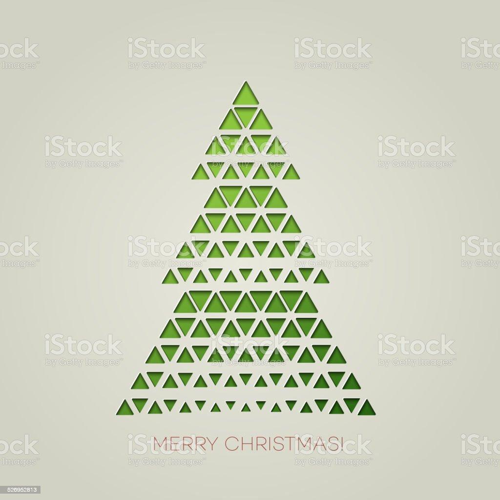 Frohe Weihnachtsbaum Mit Dreieck Form Stock Vektor Art und mehr ...