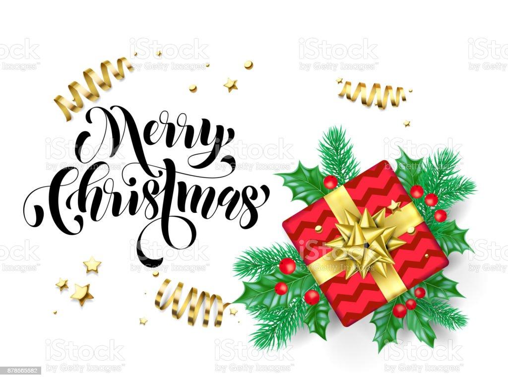 Merry Christmas Trendy Quote Calligraphy On White Premium Background ...
