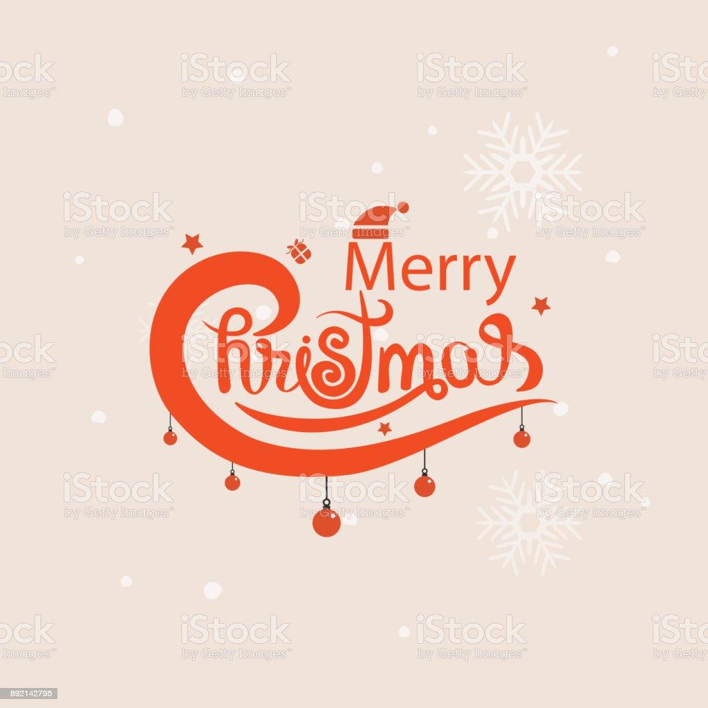 Frohe Typografische Gestaltung Elementsmerry Weihnachten Vektor ...