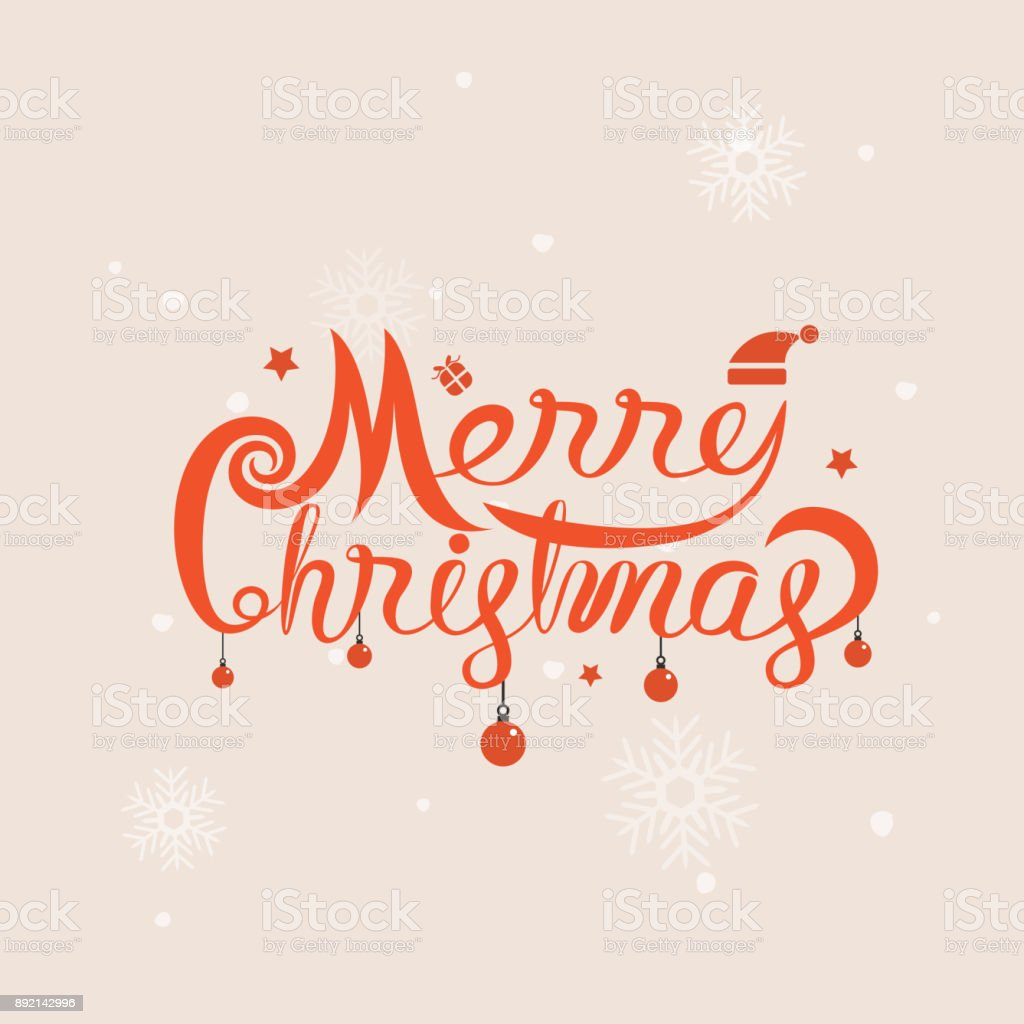 Merry Christmas Typographical Design Elementsmerry Christmas Vector