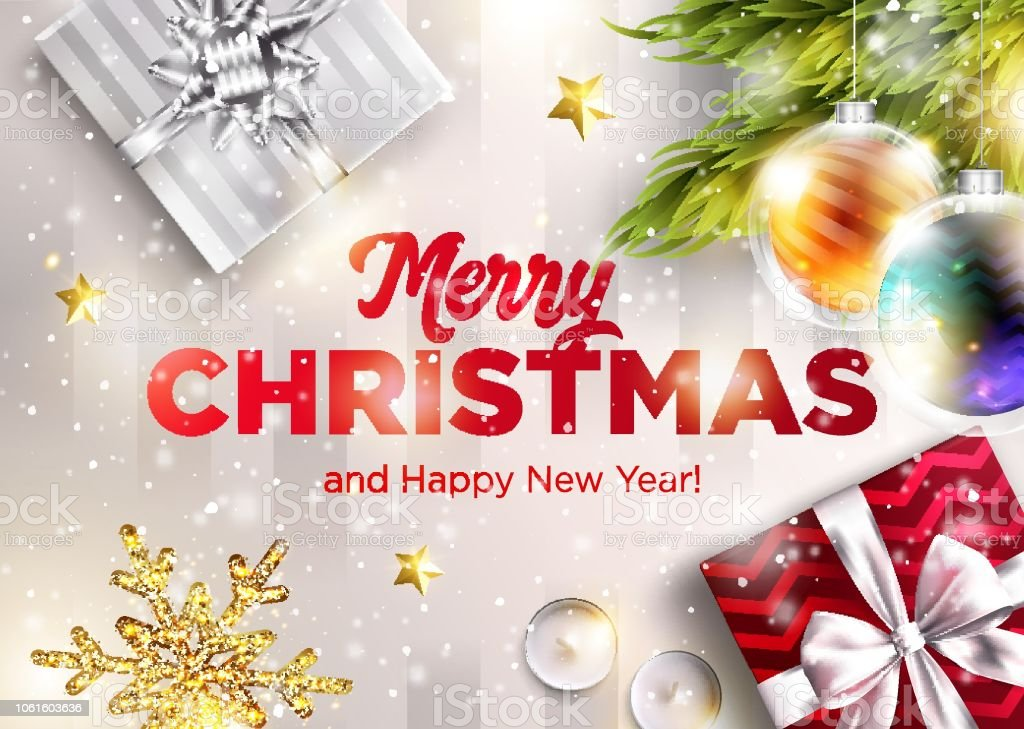 Christmas Graphics 2019.Merry Christmas Vector Greeting Card Happy New Year 2019