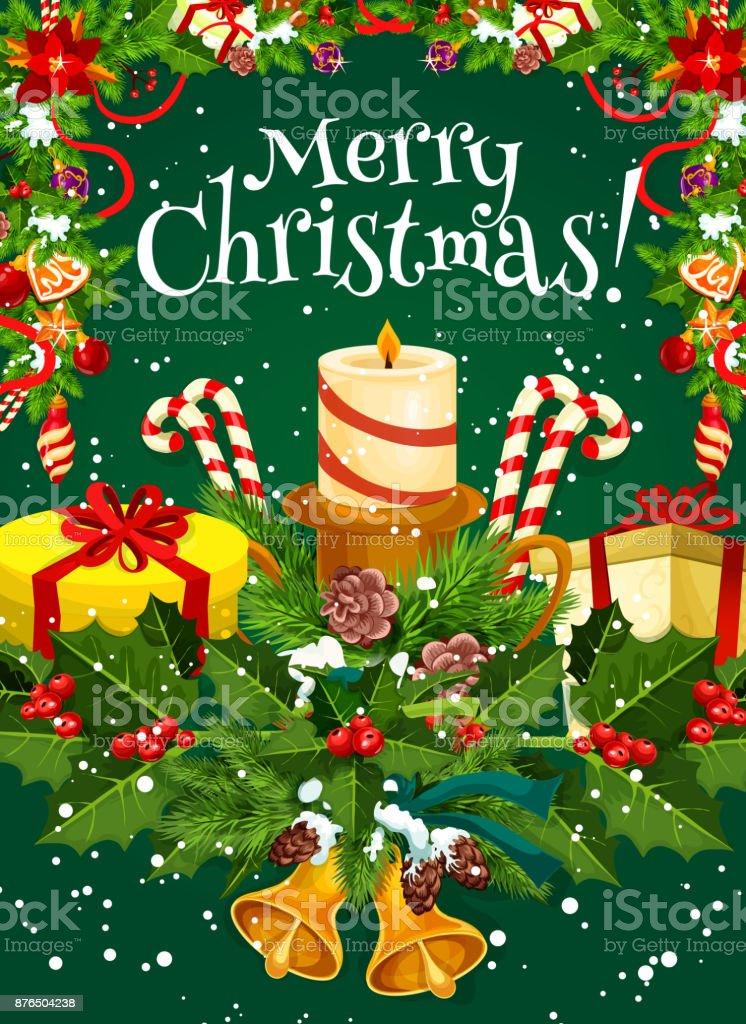 Frohe Weihnachten Wunsch.Frohe Weihnachten Vektor Urlaub Wunsch Grusskarte Stock