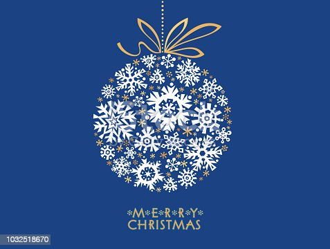 Merry Christmas! Winter Greetings Card. Vector illustration.
