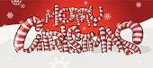 Merry Christmas candycane type