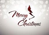Merry Christmas of celebration card
