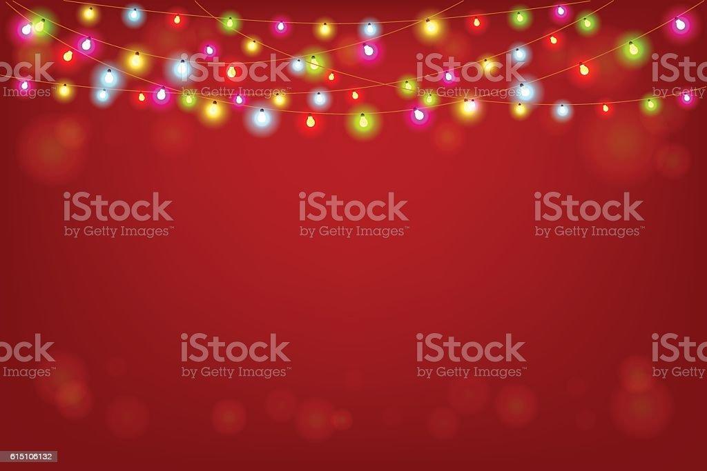 Merry Christmas vector illustration with copy space – Vektorgrafik