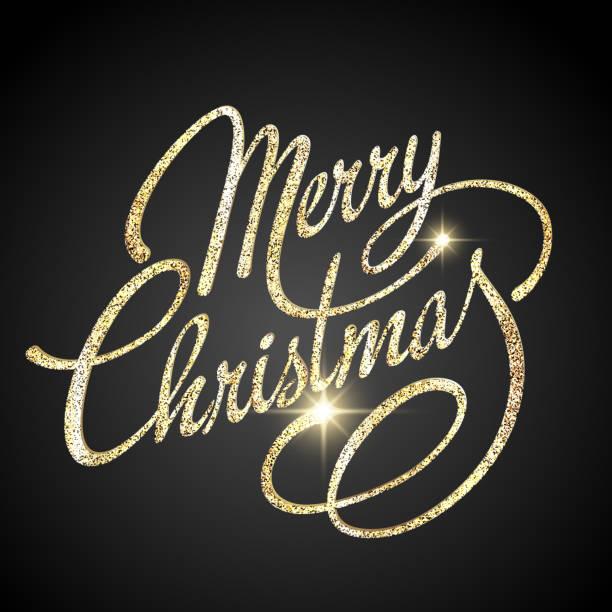 merry christmas wektor literami - new year stock illustrations