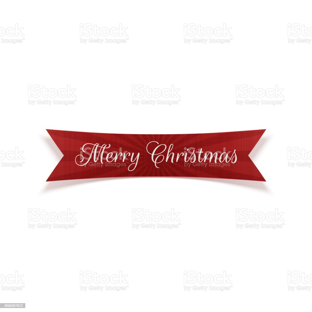Merry Christmas vector red Ribbo