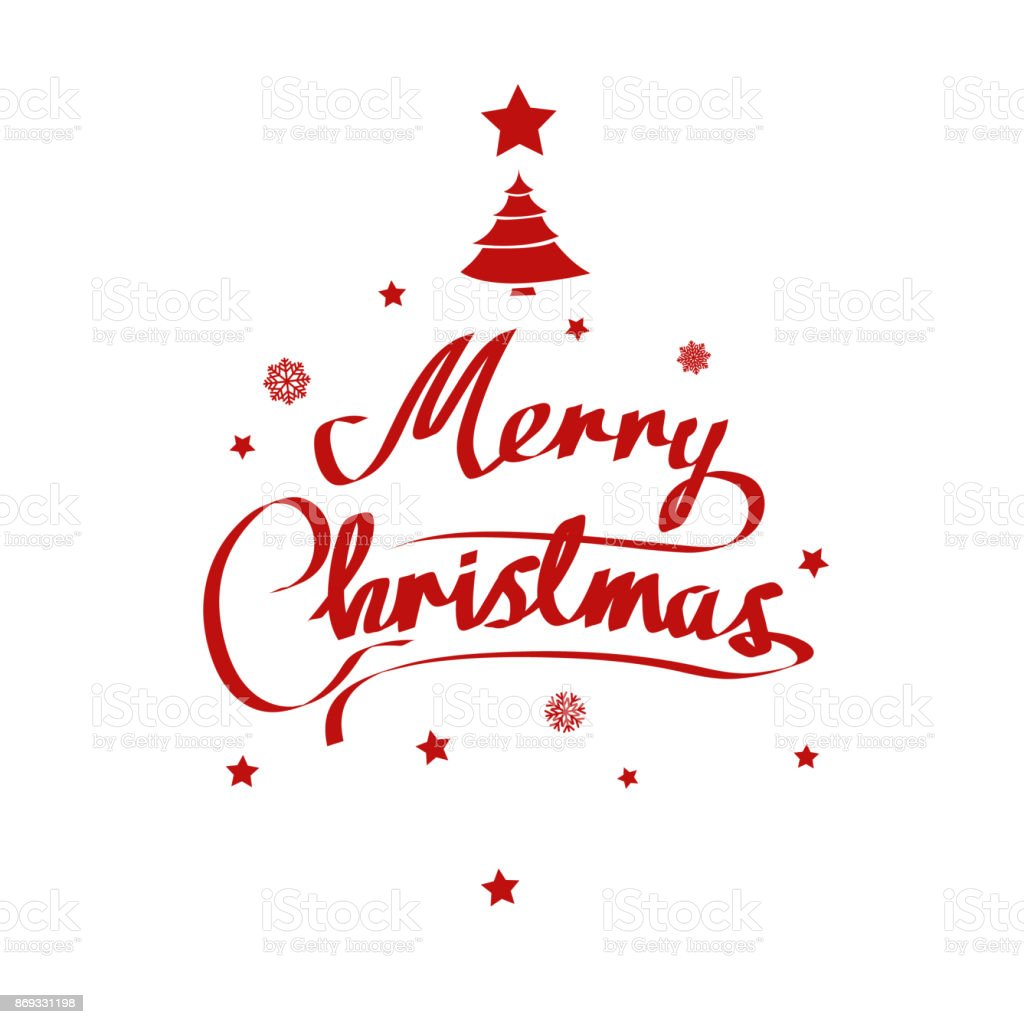 Merry Christmas Vector Text And New Year Xmas Background With ...