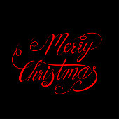 Merry Christmas vector text Calligraphic Lettering design