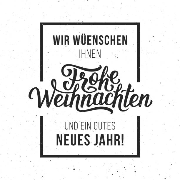 frohe weihnachten vector typographic card - weihnachten stock illustrations