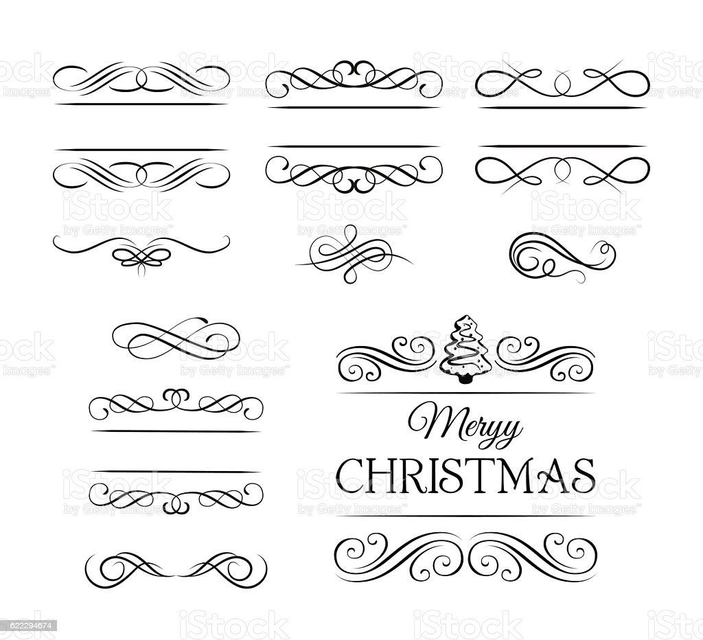merry christmas vintage elements and page decoration ornate frames