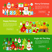 Merry Christmas Web Horizontal Banners